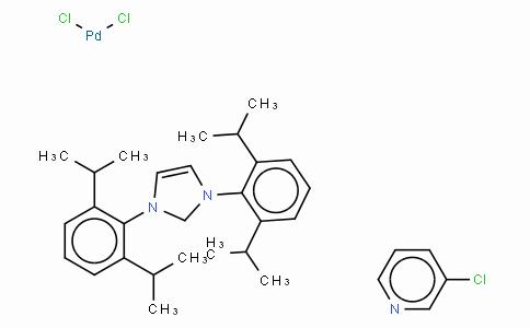 SC10558 | 905459-27-0 | [1,3-Bis(2,6-Diisopropylphenyl)imidazol-2-ylidene](3-chloropyridyl)palladium(II) dichloride