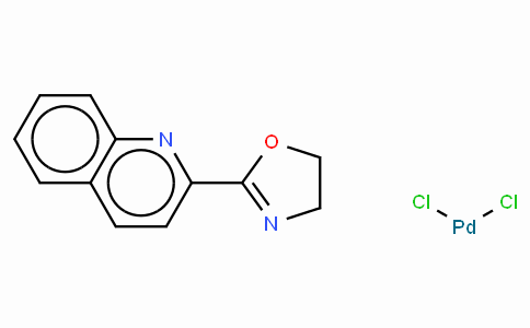Dichloro[2-(4,5-dihydro-2-oxazolyl)quinoline]palladium(II)