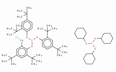 SC10573 | Chloro(η2-P,C-tris(2,4-di-tert-butylphenyl)phosphite)(tricyclohexylphosphine)palladium(II), SamCat