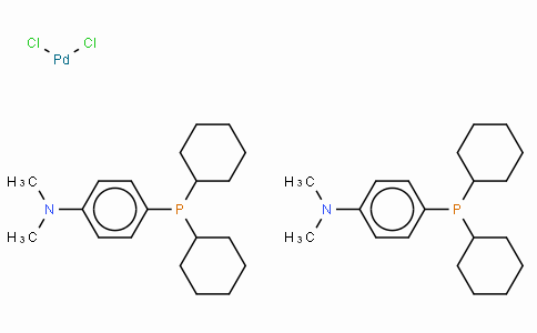 Bis[(dicyclohexyl)(4-dimethylaminophenyl)phosphine] palladium(II) chloride,  (A-caPhos)2PdCl2