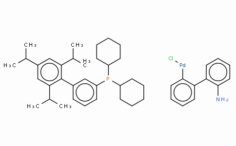 SC10595 | Chloro(2-dicyclohexylphosphino-2',4',6'-tri-i-propyl-1,1'-biphenyl)(2'-amino-1,1'-biphenyl-2-yl) palladium(II), min.