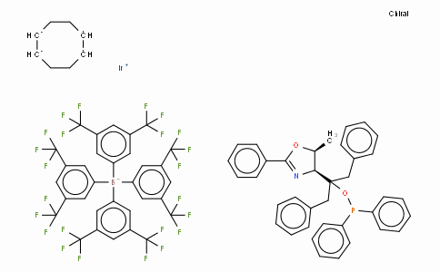 SC10649 | ((4S,5S)-(-)-O-[1-Benzyl-1-(5-methyl-2-phenyl-4,5-dihydrooxazol-4-yl)-2-phenylethyl]-diphenylphosphinite)(1,5-COD)iridium(I) tetrakis(3,5-bis(trifluoromethyl)phenylborate