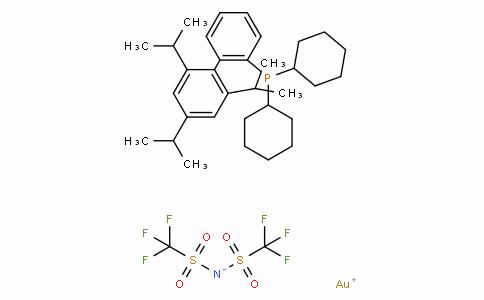 SC10760 | 2-Dicyclohexylphosphino-2′,4′,6′-triisopropylbiphenyl gold(I) bis(trifluoromethanesulfonyl)imide
