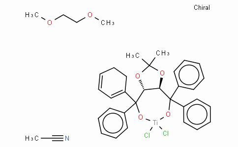 (4R,5R)-(-)-2,2-Dimethyl-α,α,α',α'-tetraphenyl-1,3-dioxolane-4,5-dimethanolato[1,2-bis(dimethoxy)ethane]titanium(IV) dichloride acetonitrile adduct