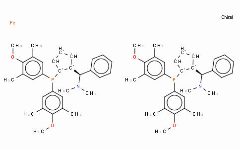 SC11394 | (S,S)-(-)-2,2'-Bis[(R)-(N,N-dimethylamino)(phenyl)methyl]-1,1'-bis[di(3,5-dimethyl-4-methoxyphenyl)phosphino]ferrocene