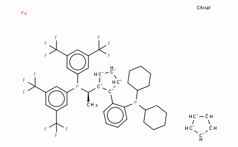 SC11430 | 494227-32-6 | (R)-(+)-1-[(R)-2-(2'-Dicyclohexylphosphinophenyl)ferrocenyl]ethyldi(bis-3,5-trifluoromethylphenyl)phosphine