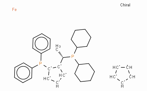 SC11458 | 162291-02-3 | (S)-(+)-1-[(R)-2-(Diphenylphosphino)ferrocenyl]ethyldicyclohexylphosphine ethanol adduct