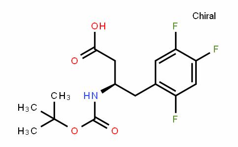 (3R)-N-(tert-Butoxycarbonyl)-3-amino-4-(2,4,5-trifluorophenyl)butanoic acid