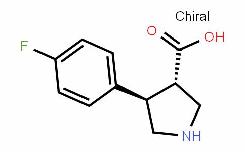 (3S,4R)-4-(4-fluorophenyl)pyrrolidine-3-carboxylic acid