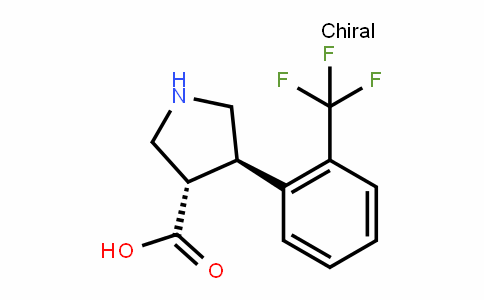 (3S,4R)-4-(2-(trifluoromethyl)phenyl)pyrrolidine-3-carboxylic acid