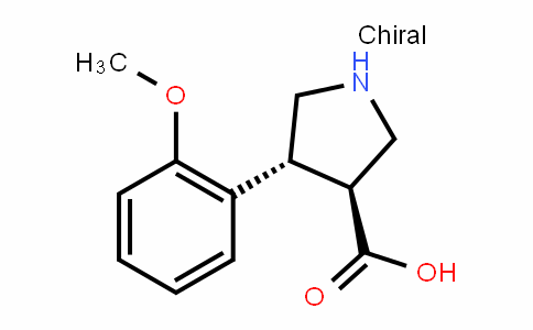 (3S,4R)-4-(2-methoxyphenyl)pyrrolidine-3-carboxylic acid