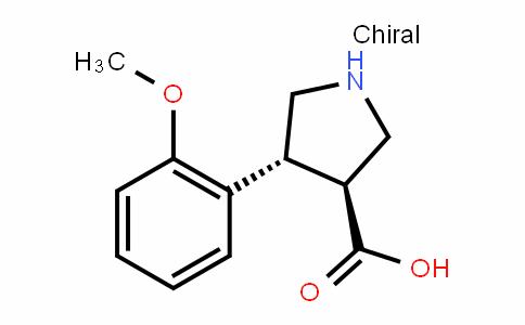 (3S,4R)-4-(2-methoxyphenyl)pyrrolidine-3-carboxylic acid