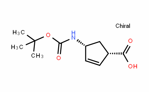 (1S,4R)-4-(tert-butoxycarbonylamino)cyclopent-2-enecarboxylic acid