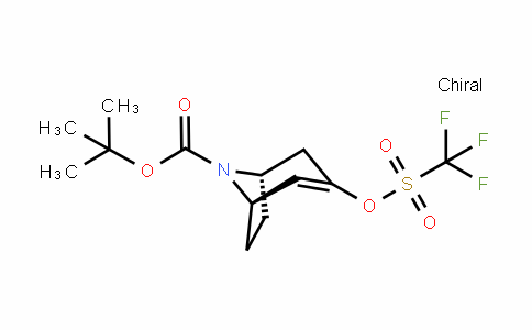 (1R,5S)-tert-butyl 3-(trifluoromethylsulfonyloxy)-8-azabicyclo[3.2.1]oct-2-ene-8-carboxylate