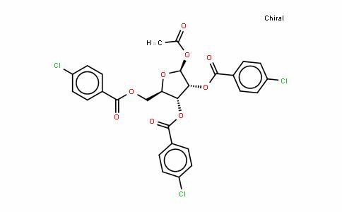 1-O-Acetyl-2,3,5,tri-O-(p-chlorobenzoyl)-beta-D-ribofuranose