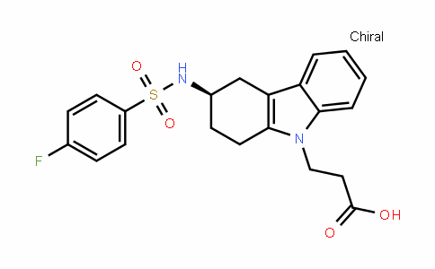 (R)-3-(3-(4-fluorophenylsulfonamido)-3,4-dihydro-1H-carbazol-9(2H)-yl)propanoic acid