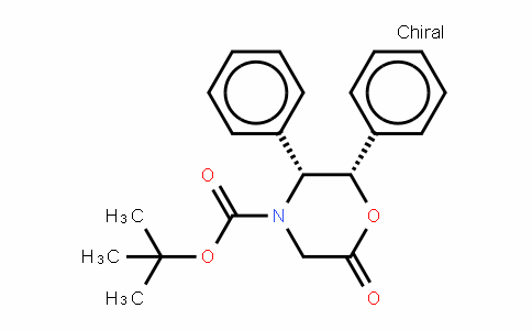 Tert-Butyl-(2S,3R)-(+)-6-oxo-2,3-diphenyl-4- morpholinecarboxylate