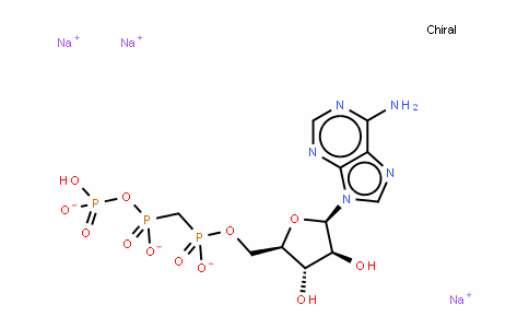 Adenosine, 5'-[hydrogen [[hydroxy(phosphonooxy)phosphinyl]methyl]phosphonate]
