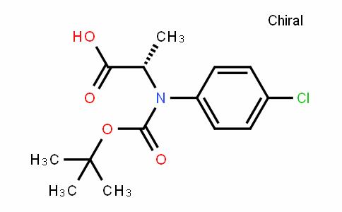 (S)-2-(tert-butoxycarbonyl(4-chlorophenyl)amino)propanoic acid