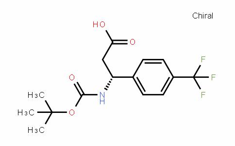 (R)-3-(tert-butoxycarbonylamino)-3-(4-(trifluoromethyl)phenyl)propanoic acid