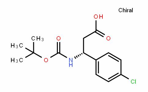 (R)-3-(tert-butoxycarbonylamino)-3-(4-chlorophenyl)propanoic acid