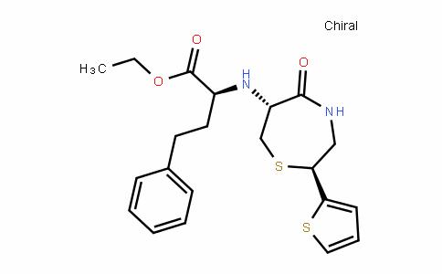 (S)-ethyl 2-((2S,6R)-5-oxo-2-(thiophen-2-yl)-1,4-thiazepan-6-ylamino)-4-phenylbutanoate