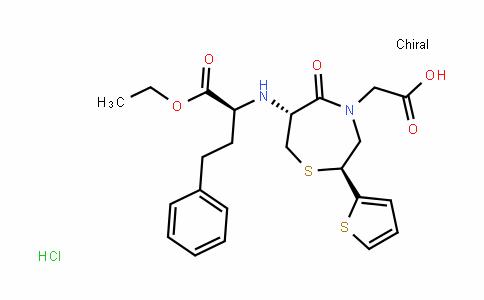 2-((2S,6R)-6-((S)-1-ethoxy-1-oxo-4-phenylbutan-2-ylamino)-5-oxo-2-(thiophen-2-yl)-1,4-thiazepan-4-yl)acetic acid hydrochloride