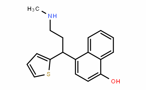 4-(3-(Methylamino)-1-(thiophen-2-yl)propyl)naphthalen-1-ol