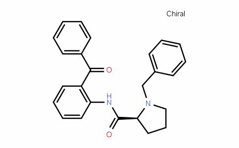 (S)-N-(2-benzoylphenyl)-1-benzylpyrrolidine-2-carboxamide