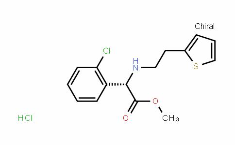 (S)-methyl 2-(2-chlorophenyl)-2-(2-(thiophen-2-yl)ethylamino)acetate hydrochloride
