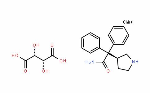 3-(S)-(1-Carbamoyl-1,1-diphenylmethyl)pyrrolidine L-(+)-tartrate