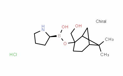 2-(Hydroxymethyl)-6,6-dimethylbicyclo[3.1.1]heptan-2-yl hydrogen (S)-pyrrolidin-2-ylboronate hydrochloride
