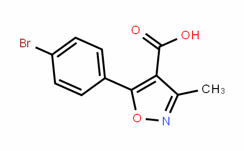 5-(4-bromo-phenyl)-3-methyl-isoxazole-4-carboxylic Acid