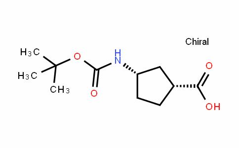 (+)-(1S,3R)-N-BOC-1-aminocyclopentane-3-carboxylic acid