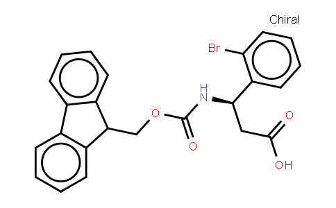 Fmoc-(R)- 3-Amino-3-(2-bromophenyl)-propionic acid