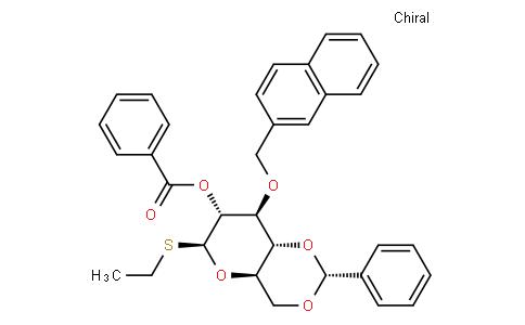 Ethyl 2-O-benzoyl-3-O-(2-methylnaphthyl)-4,6-O-benzylidene-1-thio-β-D-glucopyranoside