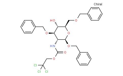Phenylmethyl 2-deoxy-3,6-bis-O-(phenylmethyl)-2-[[(2,2,2-trichloroethoxy)carbonyl]amino]-β-D-glucopyranoside