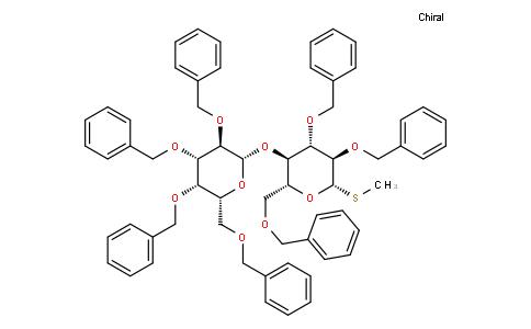 Methyl 2,3,4,6-tetra-O-benzyl-β-D-galactopyranosyl-(1→4)-2,3,6-tri-O-benzyl-1-thio-β-D-glucopyranoside
