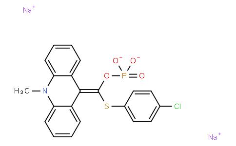 9-(4-Chlorophenylthiophosphoryloxymethylidene)-10-methylacridan,disodium salt