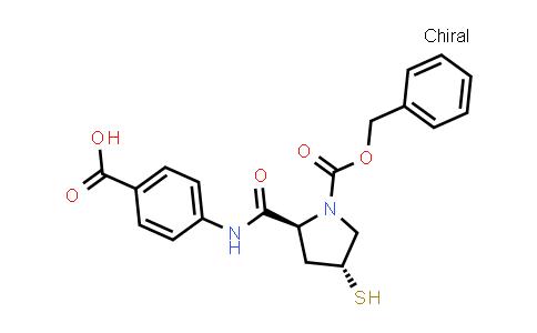 1-Pyrrolidinecarboxylic acid,2-[[(4-carboxyphenyl)amino]carbonyl]-4-mercapto-, 1-(phenylmethyl)ester, (2S,4R)-