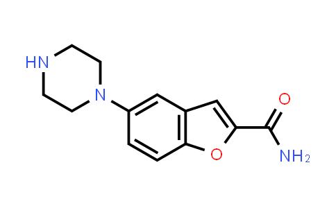 5-(1-Piperazinyl)benzofuran-2-carboxamide