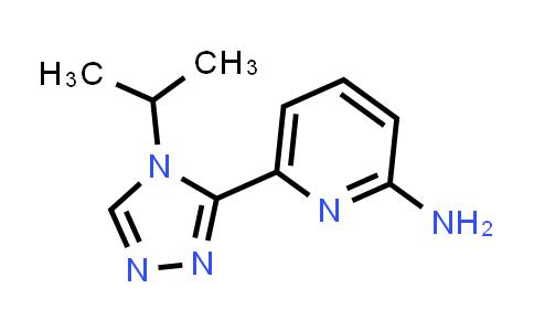6-(4-isopropyl-4H-1,2,4-triazol-3-yl)pyridin-2-amine