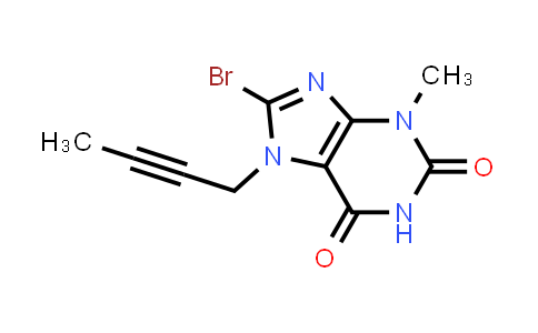 8-bromo-7-(but-2-ynyl)-3-methyl-1H-purine-2,6(3H,7H)-dione