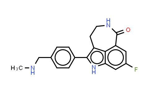 8-FLUOR-2-{4-[(METHYLAMINO)METHYL]FENYL}-1,3,4,5-TETRAHYDRO-6HAZEPINO[5,4,3-CD]INDOOL-6-ON