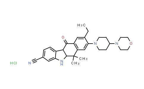 9-ethyl-6,6-diMethyl-8-(4-Morpholinopiperidin-1-yl)-11-oxo-5a,6,11,11a-tetrahydro-5H-benzo[b]carbazole-3-carbonitrile hydrochloride