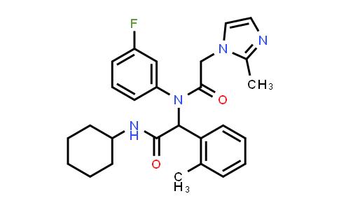 N-cyclohexyl-2-(N-(3-fluorophenyl)-2-(2-Methyl-1H-iMidazol-1-yl)acetaMido)-2-(o-tolyl)acetaMide