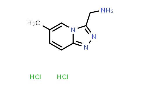 {6-methyl-[1,2,4]triazolo[4,3-a]pyridin-3-yl}methanamine dihydrochloride