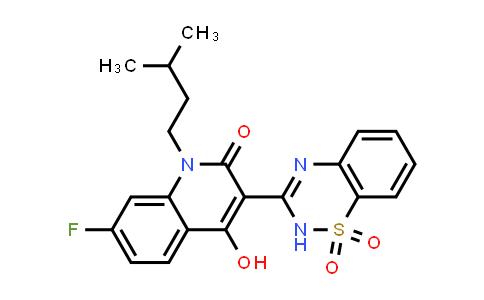 3-(1,1-dioxido-2H-1,2,4-benzothiadiazin-3-yl)-7-fluoro-4-hydroxy-1-(3-methylbutyl)-2(1H)-Quinolinone