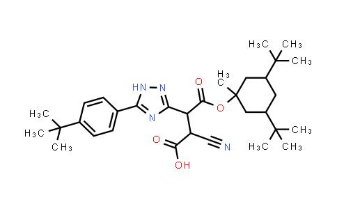 3-[5-(4-tert-butylphenyl)-1H-1,2,4-triazol-3-yl]-2-cyano-4-[(3,5-di-tert-butyl-1-methylcyclohexyl)oxy]-4-oxobutanoic acid