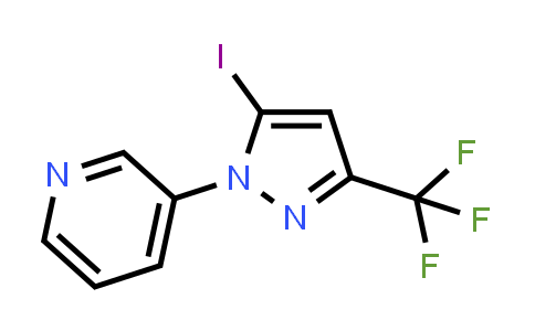 3-[5-iodo-3-(trifluoromethyl)-1H-pyrazol-1-yl]pyridine